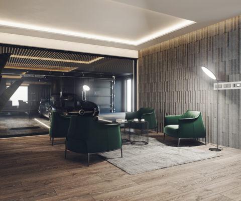 lounge w nowoczesnym stylu